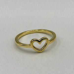 Minimalist Heart Shape Ring, Various Sizes